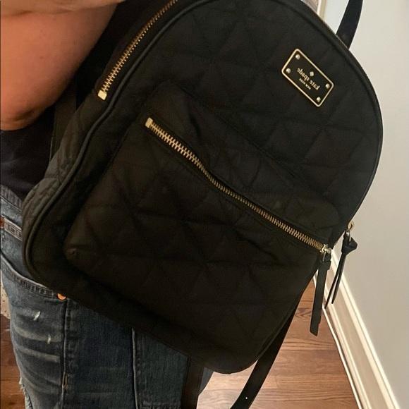 Kate Spade NEW YORK black nylon backpack